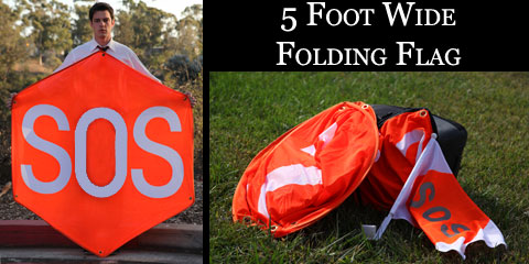 Our 5 foot Flag Is Shown Here Folded Next To Our Three Foot Flag and 12