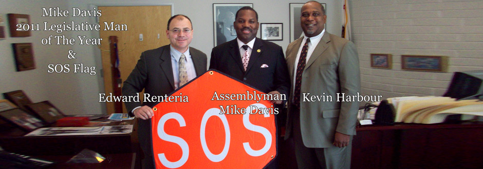 Past Legislative Man of The Year, Mike Davis, And The SOS Flag